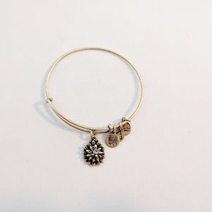 Alex and Ani Gold Water Lily Charm Bracelet